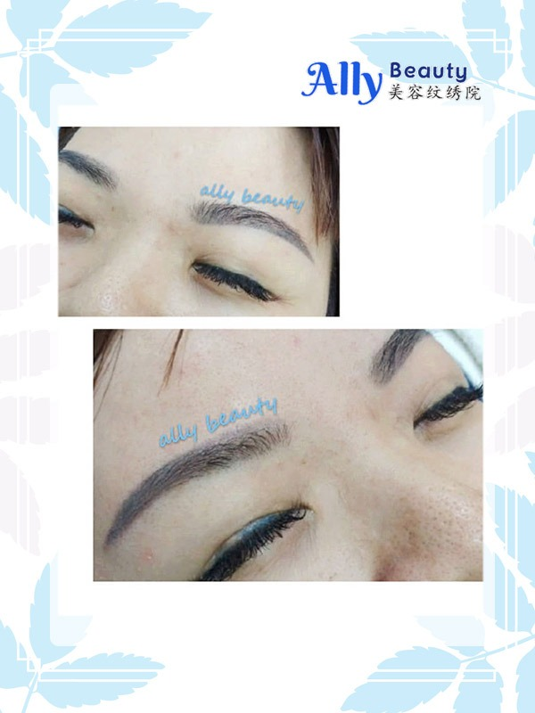 best eyebrow embroidery malaysia kl cheras ampang, eyeliner embroidery malaysia kl cheras sample, ally beauty eyebrow embroidery
